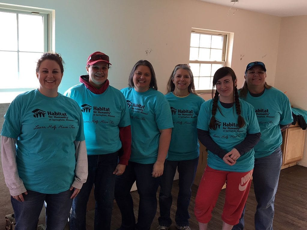Work Day At Habitat For Humanity